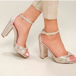 0ff052582bf Lulu s Shoes -  lulu s  carly champagne metallic block heel shoe